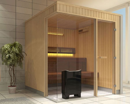 sauna tylo evolve glass front histoire d 39. Black Bedroom Furniture Sets. Home Design Ideas